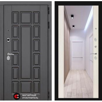 Дверь NEW YORK с Зеркалом – Белый Сандал