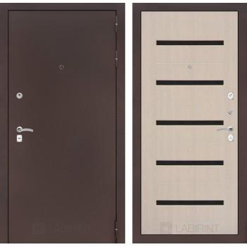 Дверь CLASSIC 01 медный антик – Дуб беленый