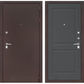 Дверь CLASSIC 11 медный антик – Софт графит