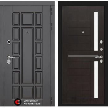 Дверь NEW YORK  02 – Венге (белое стекло)