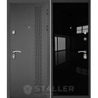 Дверь Сталлер Лика (черный люкс)