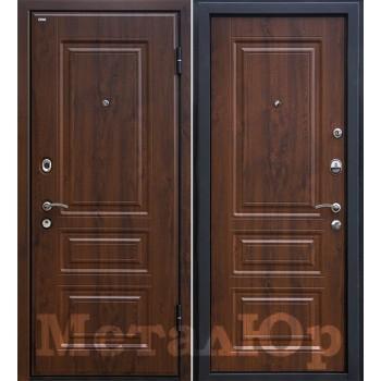 Дверь МеталЮр M11 (темный орех)