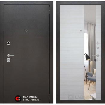 Дверь SILVER с Зеркалом – Акация горизонтальная светлая
