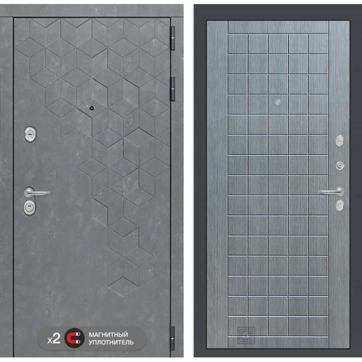 Дверь BETON 09 - Лен сильвер грей