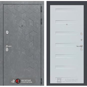 Дверь BETON 14 - Дуб кантри белый горизонтальный