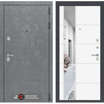 Дверь BETON с Зеркалом 19 - Белый софт