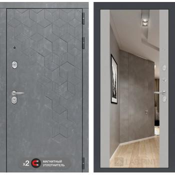 Дверь BETON с Зеркалом Максимум - Грей софт