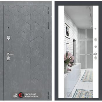 Дверь BETON с Зеркалом Максимум - Белый софт