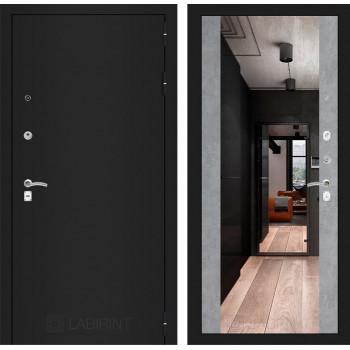 Дверь CLASSIC Максимум-Светлый бетон (Большое зеркало)
