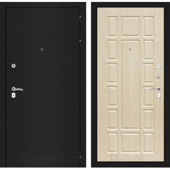 Дверь CLASSIC 12 черная шагрень – Беленый дуб