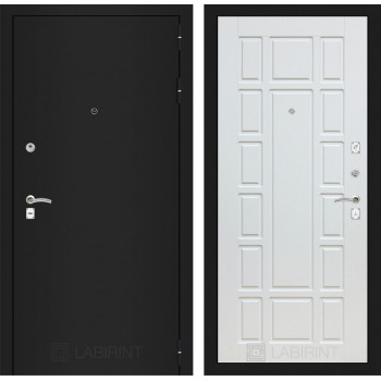 Дверь CLASSIC 12 черная шагрень – Белое дерево