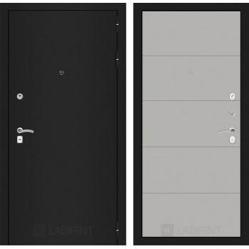 Дверь CLASSIC 13 черная шагрень – Грей софт
