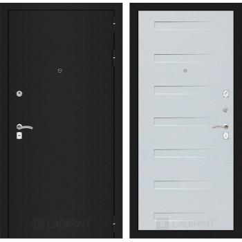 Дверь CLASSIC 14 черная шагрень – Дуб кантри белый