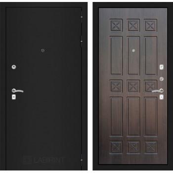 Дверь CLASSIC 16 черная шагрень – Алмон 28 (Винорит)
