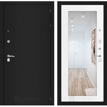 Дверь CLASSIC 18 черная шагрень – Белое дерево