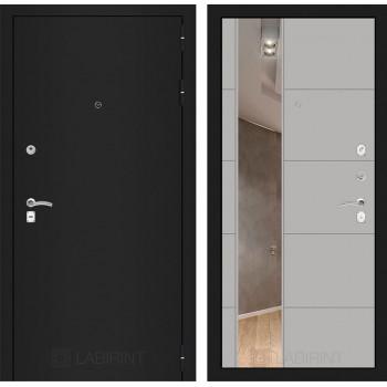 Дверь CLASSIC 19 черная шагрень – Грей софт