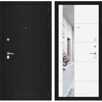 Дверь CLASSIC 19 черная шагрень – Белый софт