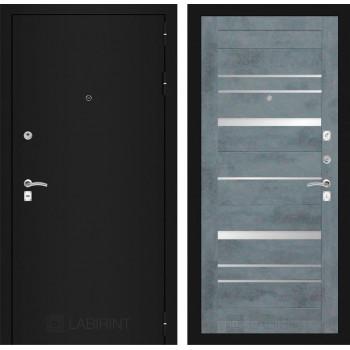 Дверь CLASSIC 20 черная шагрень – Бетон темный