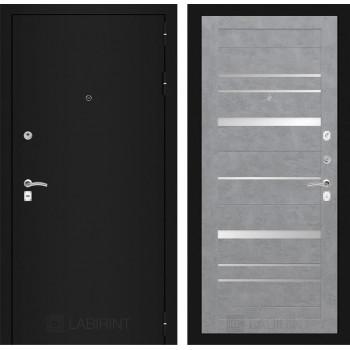 Дверь CLASSIC 20 черная шагрень – Бетон светлый