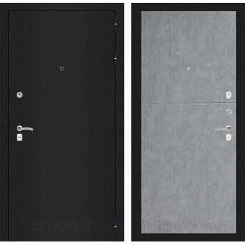 Дверь CLASSIC 21 черная шагрень – Бетон светлый
