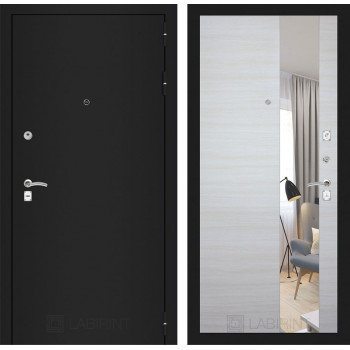 Дверь CLASSIC черная шагрень – Акация светлая