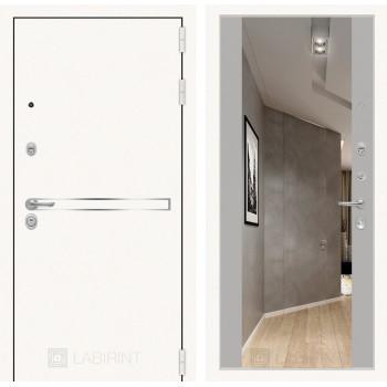 Дверь LINE WHITE Зеркалом Максимум - Грей софт