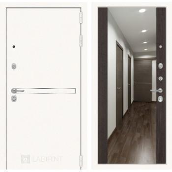 Дверь LINE WHITE Зеркалом Максимум - Венге