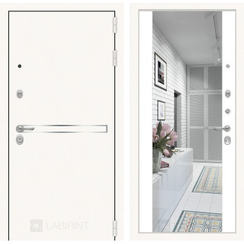 Дверь LINE WHITE Зеркалом Максимум - Белый софт