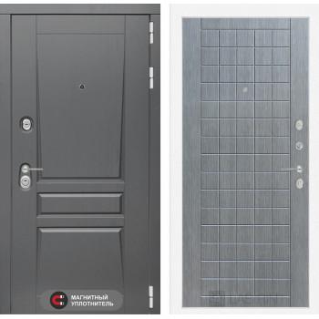 Дверь PLATINUM 09 - Лен сильвер грей