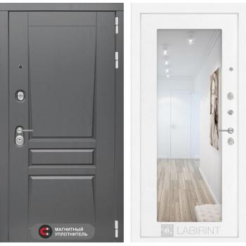 Дверь PLATINUM с Зеркалом 18 - Белое дерево