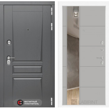 Дверь PLATINUM с Зеркалом 19 - Грей софт