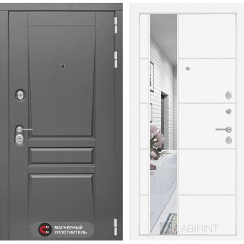 Дверь PLATINUM с Зеркалом 19 - Белый софт