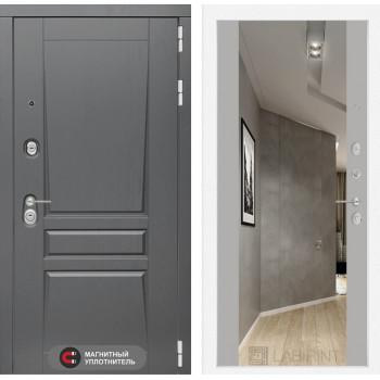 Дверь PLATINUM с Зеркалом Максимум - Грей софт