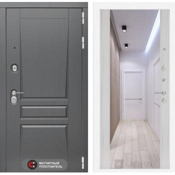 Дверь PLATINUM с Зеркалом Максимум - Сандал белый