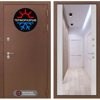 Дверь Лабиринт – Термо Магнит с Зеркалом Максимум  Сандал белый