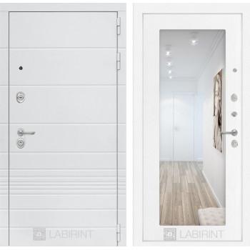 Дверь TRENDO с Зеркалом 18 - Белое дерево