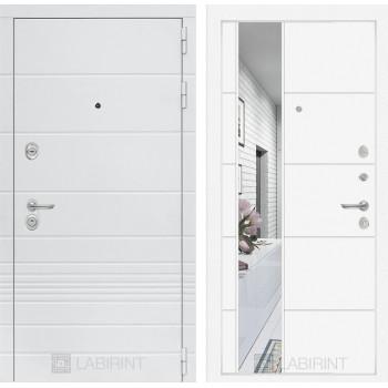 Дверь TRENDO с Зеркалом 19 - Белый софт