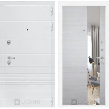 Дверь TRENDO с Зеркалом - Акация светлая горизонтальная