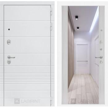 Дверь TRENDO с Зеркалом Максимум - Сандал белый
