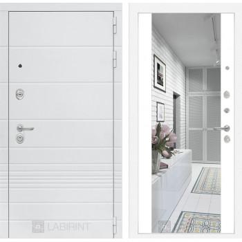 Дверь TRENDO с Зеркалом Максимум - Белый софт