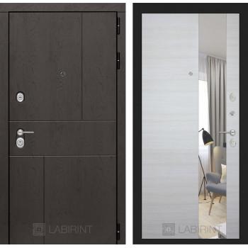 Дверь URBAN с  зеркалом - Акация светлая горизонтальная