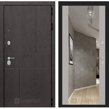 Дверь URBAN с большим зеркалом - Грей софт