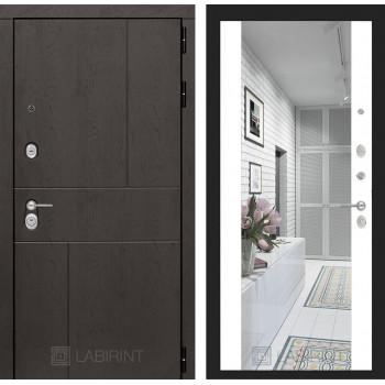 Дверь URBAN с большим зеркалом - Белый софт