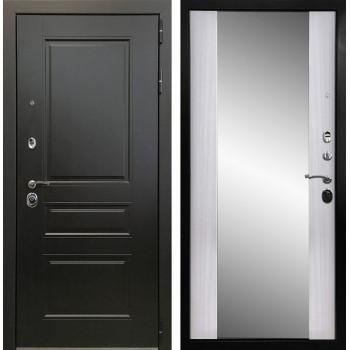 Дверь Ратибор Монолит 3К с зеркалом (сандал белый)