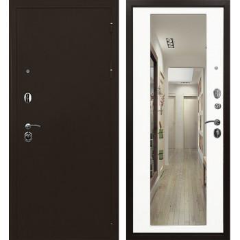 Дверь Ратибор Троя 3К с Зеркалом (белый матовый)