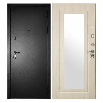 Дверь Сударь Дива МД-26 с зеркалом (дуб белёный)