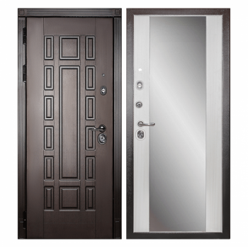 Дверь Сударь Дива МД-38 с зеркалом (сандал белый)
