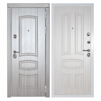 Дверь Сударь Дива МД-42 (сандал серый - сандал белый)