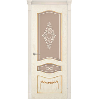 Межкомнатная дверь Алина - 2 3D (остекленная)