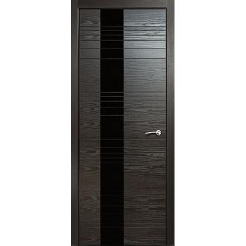 Межкомнатная дверь V - I (стекло черное)